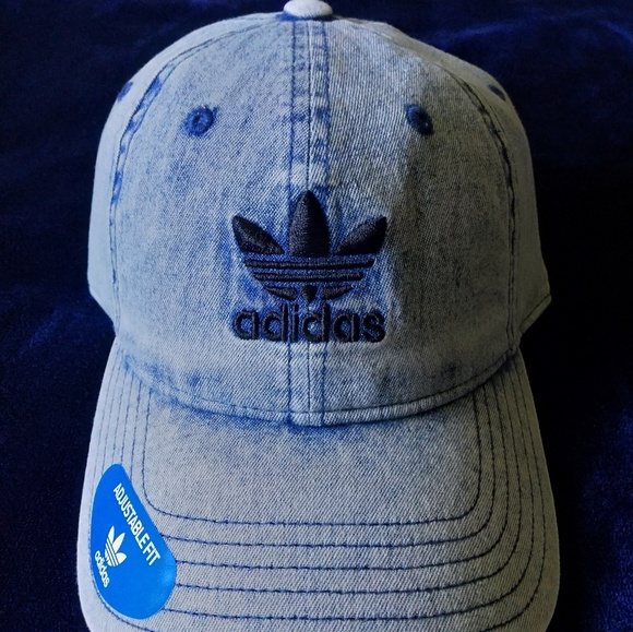 5a960ee834557 Adidas Relaxed Washed Denim Hat